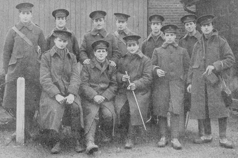 A Group Of Jewish Soldiers In The 12th London Regiment