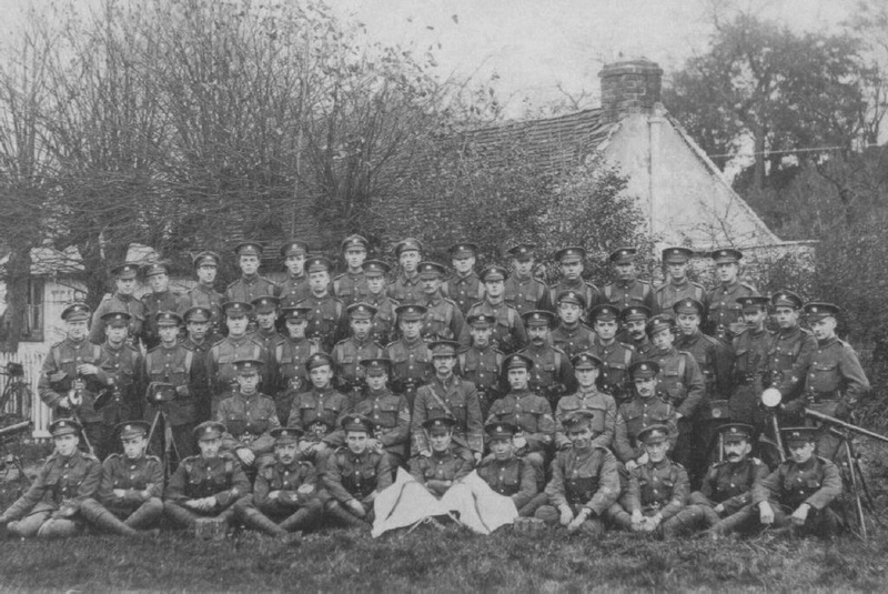 Soldiers In The 13th London Regiment (Kensingtons)