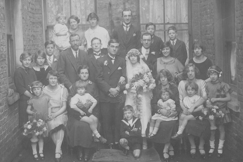 A 1920s Wedding Family Group In Hammersmith
