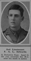 Edwards F A L 2nd Lt MC Royal Berkshire Regiment