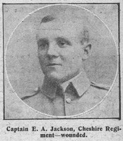 Jackson E A Captain Cheshire Regiment The Graphic 7th Sep 1914