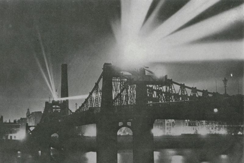 Zeppelin Searchlight On Old Lambeth Bridge