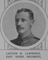 Lawrence B Captain East Yorkshire Regiment The Illustrated London News 14th Nov 1914