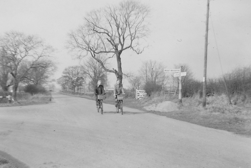 Cycling On The Road By Brant Broughton Lincolnshire 1955