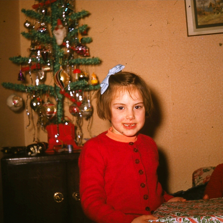 Opening Presents On Christmas Day 1950s