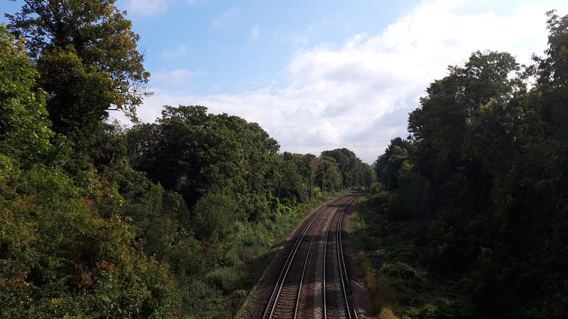 The View From The Railway Bridge Kings Lane Sutton Towards Carshalton Beeches
