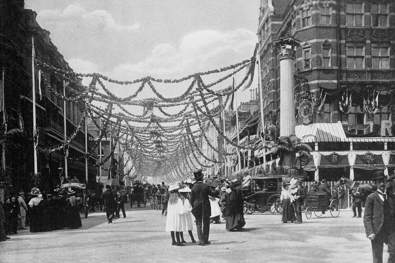 Decorations In St James Street Queens Jubilee 1897