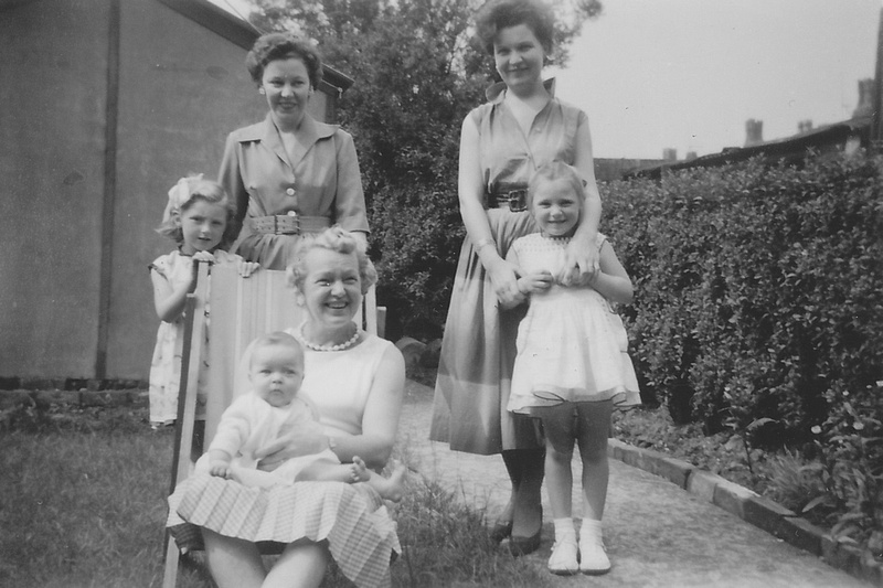 In The Back Garden 57 Oakhill Road Old Swan Liverpool 1958