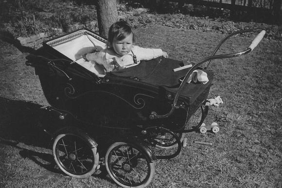 Baby In A Pram 1950s
