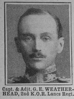 Weatherhead G E Capt & Adjt 2nd Kings Own The War Illustrated 29th May 1915