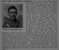 Saw N H W Captain MC Royal Army Medical Corps Obit De Ruvignys Roll Of Honour Vol 5