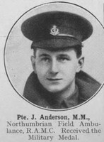 Anderson J Pte MM Royal Army Medical Corps The War Illustrated Vol 9