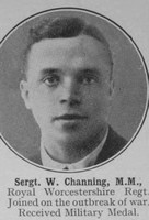 Channing W Sergt MM Worcestershire Regiment The War Illustrated Vol 9