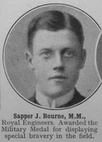 Bourne J Sapper MM Royal Engineers The War Illustrated Vol 9