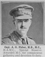 Fisher A G Captain MC Royal Army Medical Corps The War Illustrated Vol 9