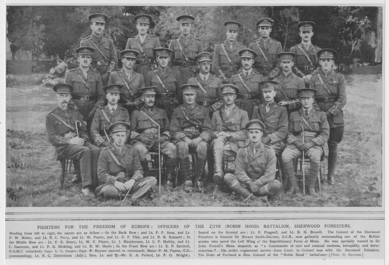 Notts And Derby Regiment 7th Robin Hood Battalion Officers The Illustrated War News 20th Oct 1915