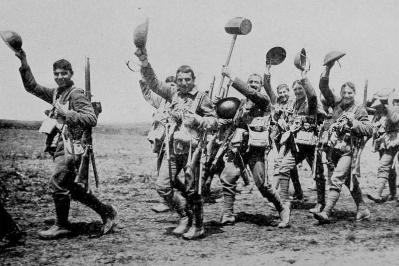 The Worcestershire Regiment Going Into Action