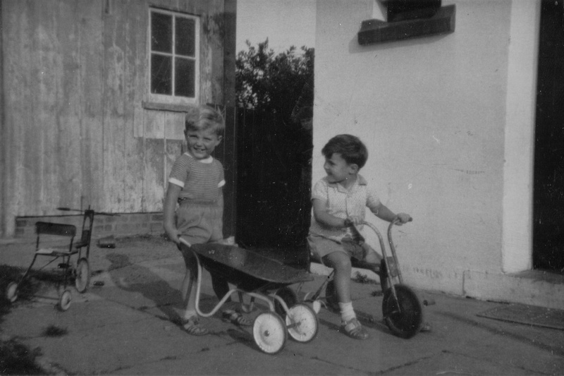 Boys Playing With Their Toys 1950s