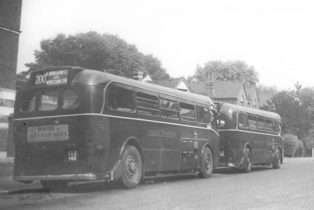Bus 200 To Wimbledon Station CLE 149 1930s
