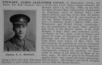 Stewart J A L Lt 1st Rifle Brigade Obit De Ruvignys Roll Of Honour Vol 1