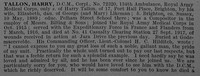 Tallon H Cpl 72320 Royal Army Medical Corps Obit Part 1 De Ruvignys Roll Of Honour Vol 4