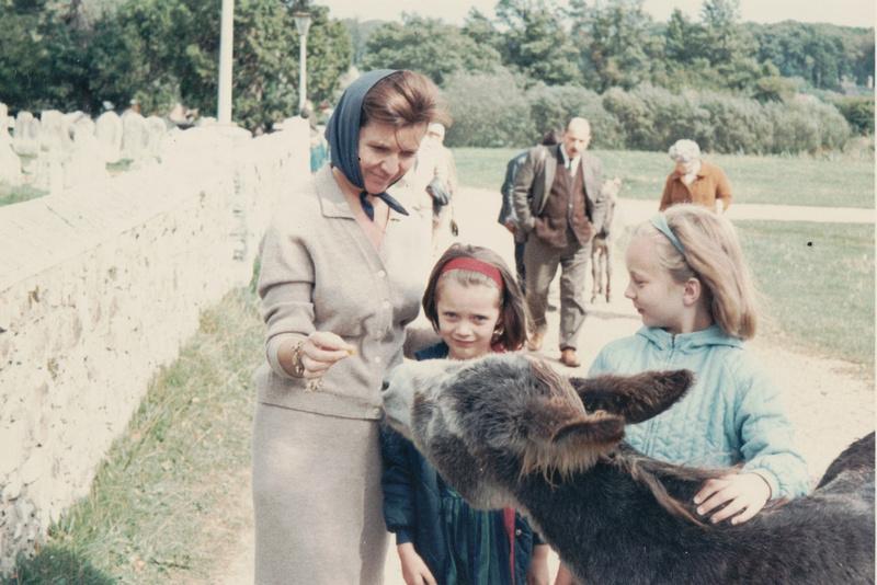 A Donkey Outside Abbey Church Beaulieu 1960s