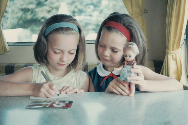 1960s Children In A Caravan With Amanda Jane Doll