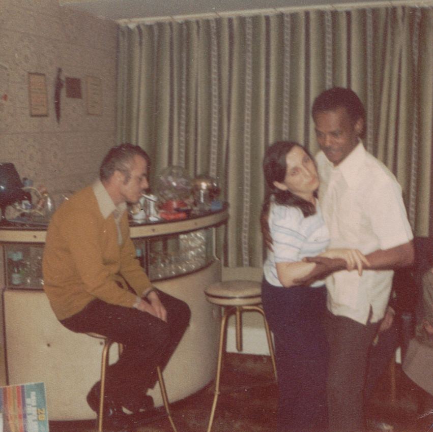 1970's Living Room With Bar