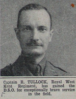 Tullock R Captain R West Kent Regt The War Illustrated 8th May 1915