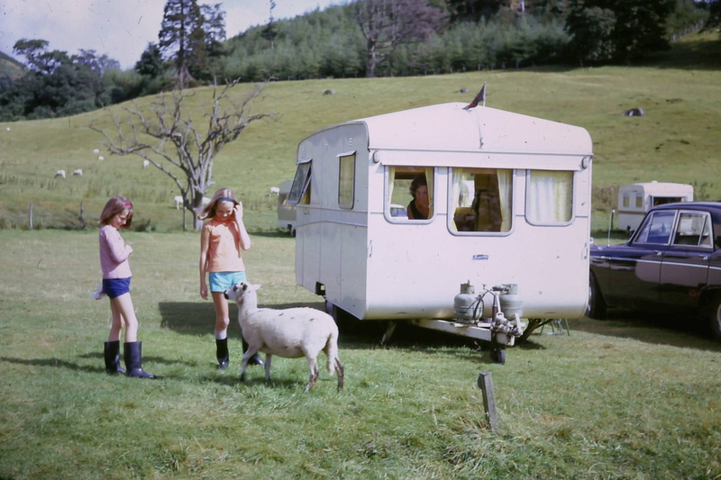 Knowsley Caravan In The Lake District 1967