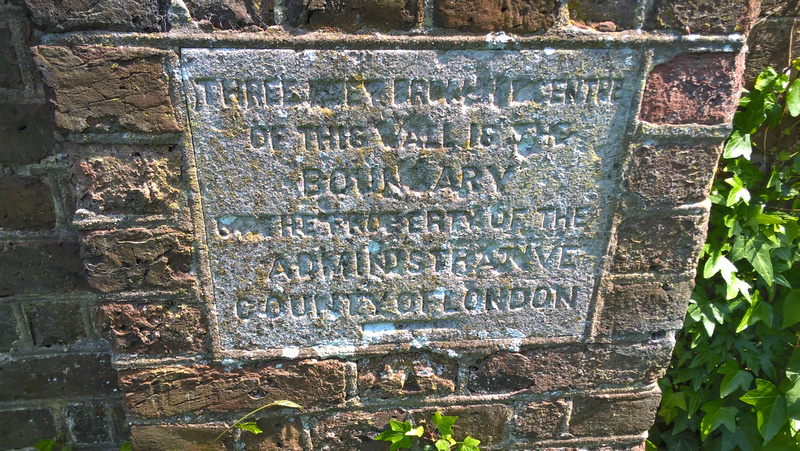 Plaque At Corner Of Wall Of Old Banstead Mental Asylum At Fairlawn Road Sutton