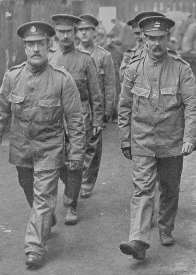 Men Of The Dockers Battalion In Liverpool