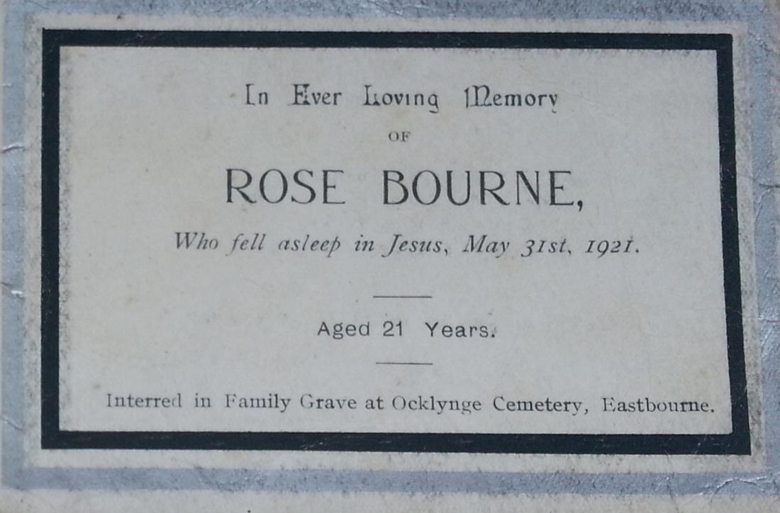Memorial Card Rose Bourne Inside 2