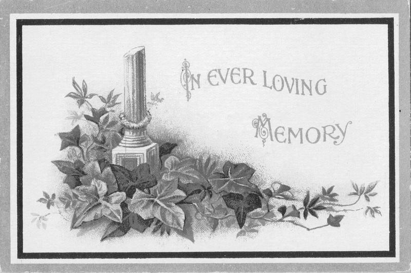 Memorial Card George Hector York Mayer