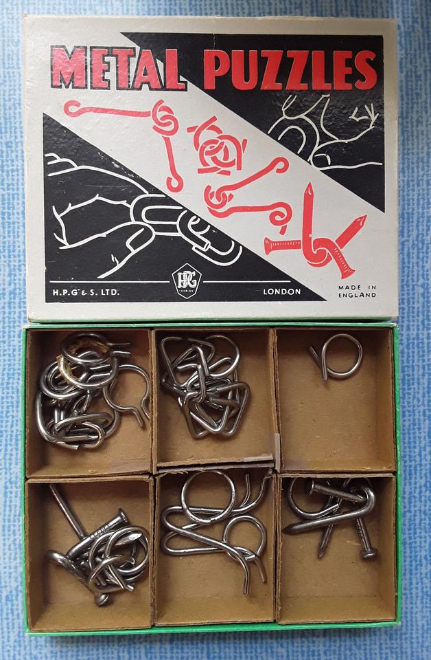 H.P.G.& S. Ltd London Metal Puzzle Game 1960s
