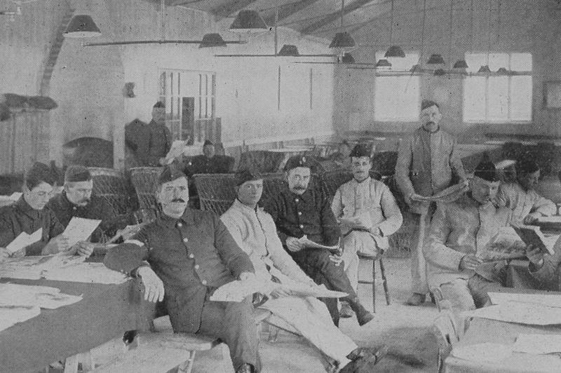 A Recreation Hut At The Bedfordshire Regiment Training Depot Ampthill
