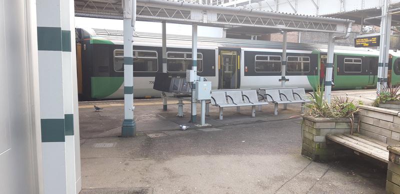 Sutton Station Taken From Platform 4 Towards Platform 3