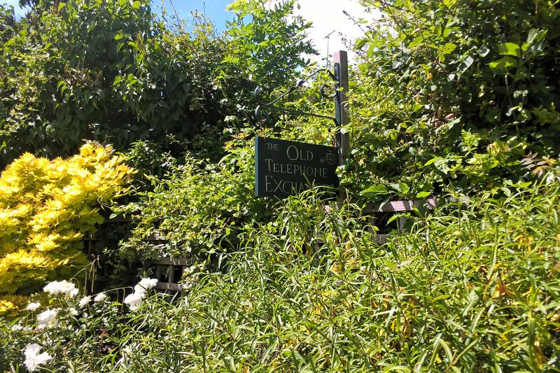 The Old Telephone Exchange Sign Sissinghurst June 2017