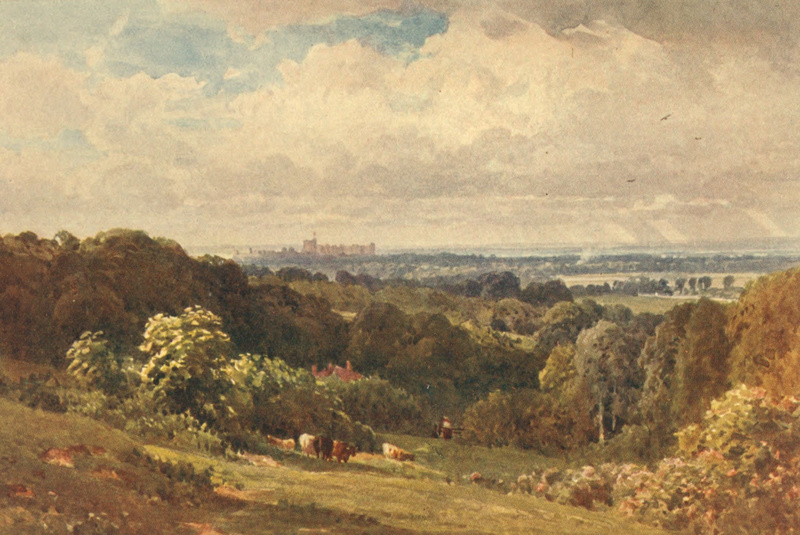 Windsor Castle From Coopers Hill Near Egham Surrey 1906