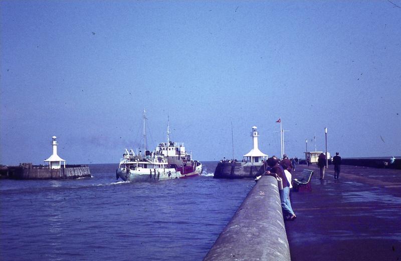 Leaving Lowestoft Harbour 1970