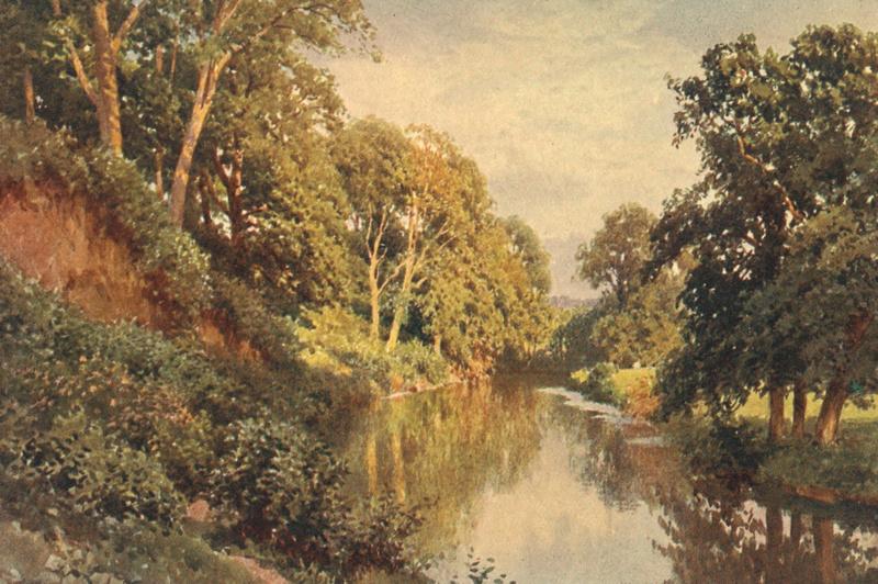 The River Mole Near Dorking 1906