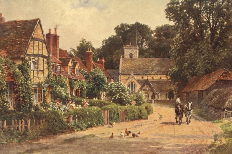 The Village Of Betchworth Near Dorking 1906