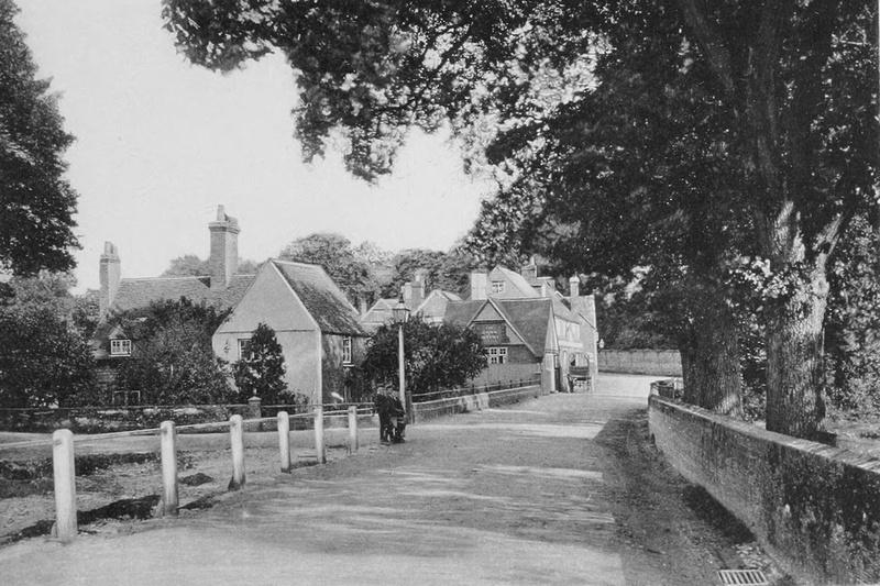 Entrance To Puttenham Village 1908