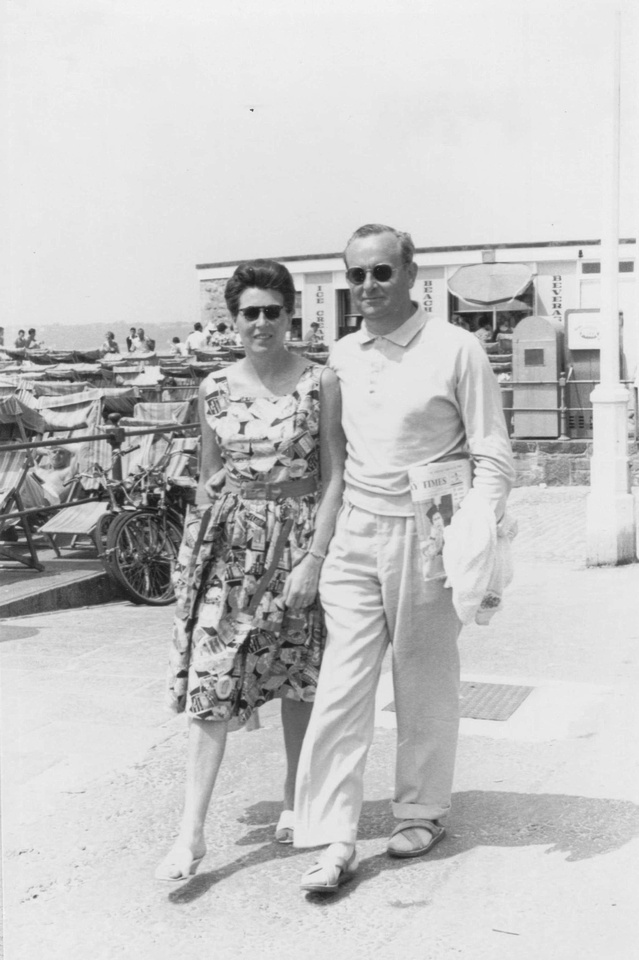 Couple Walking Along Seafront 1963