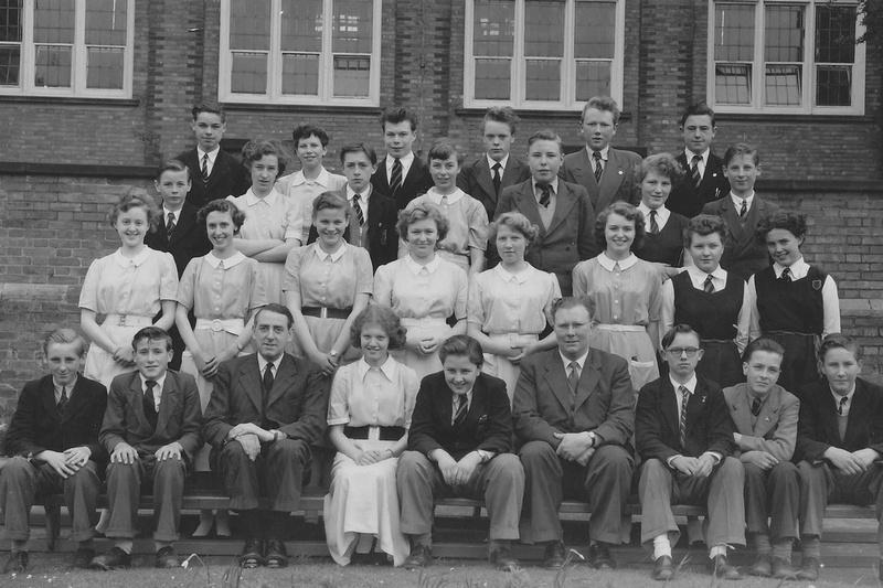 School Photo Group Loscoe Derbyshire 1950s