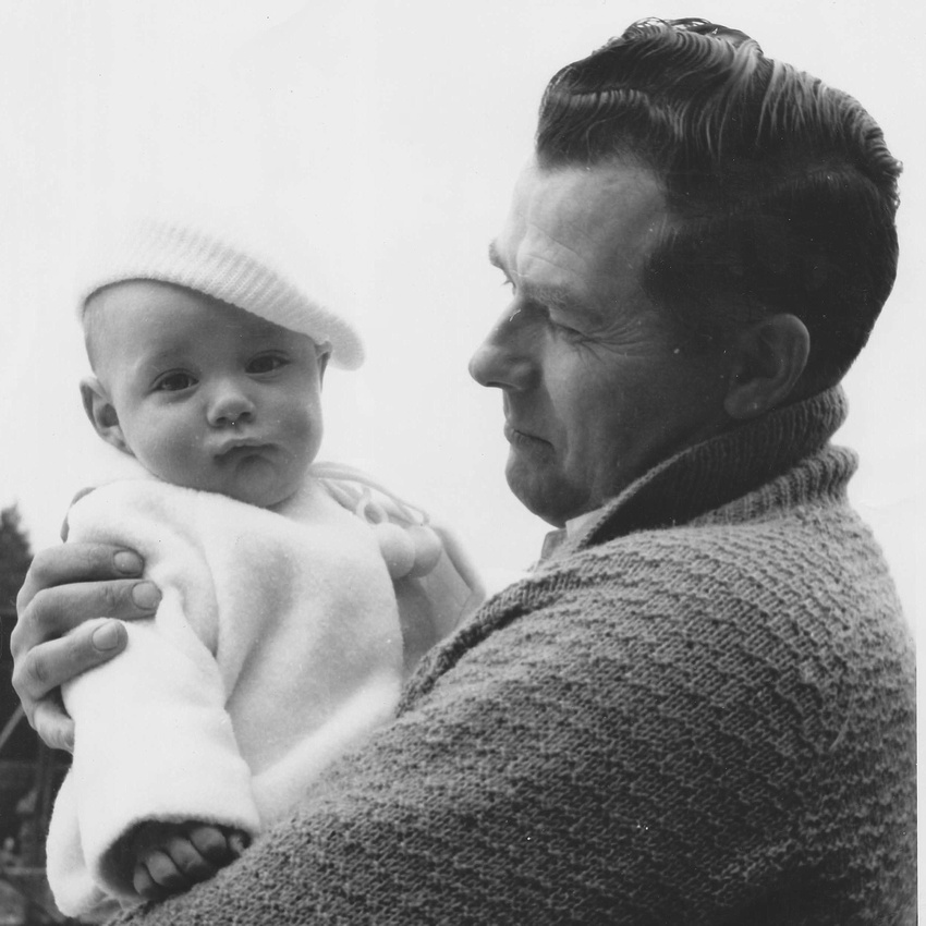 A Father With Baby 1960s