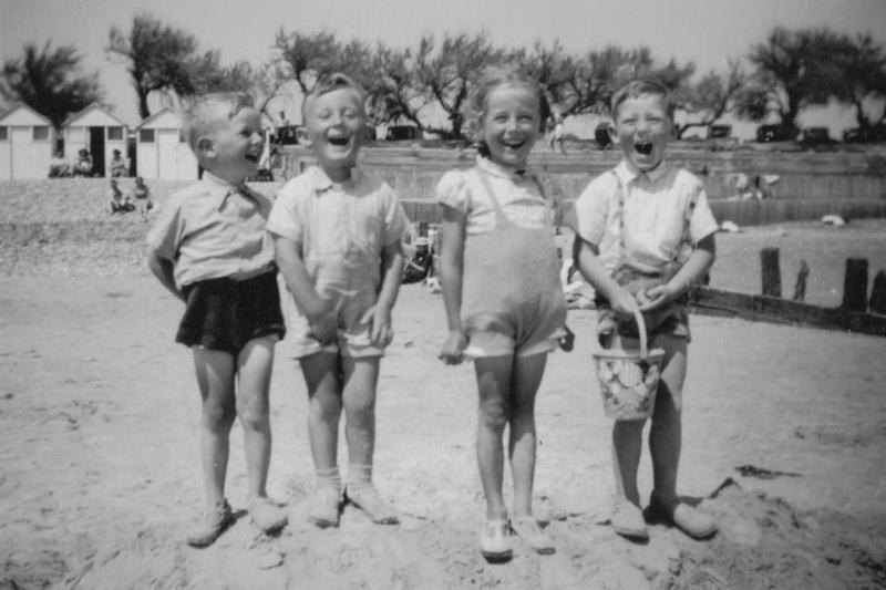 Children On The Beach 1930s