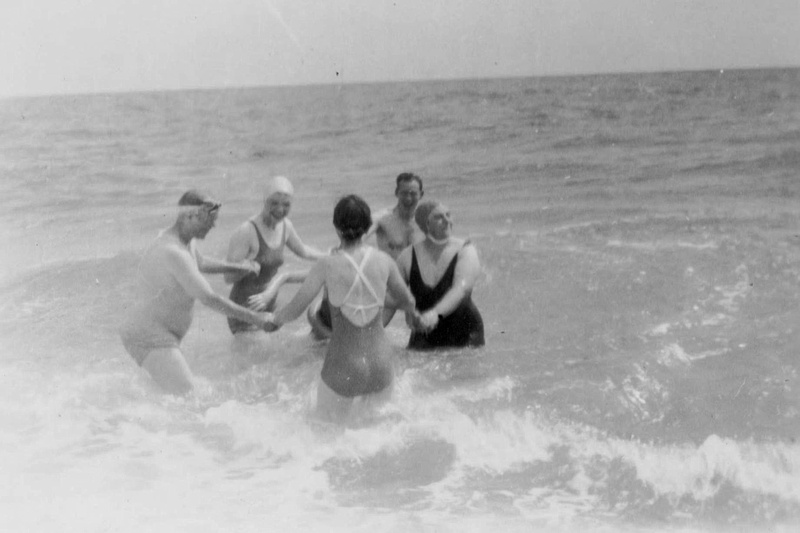 Dancing In The Sea At Selsey Bill Sussex 1930s
