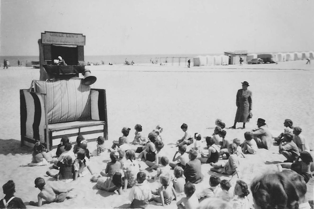 Uncle Lew's Punch and Judy Great Yarmouth Beach 1930s