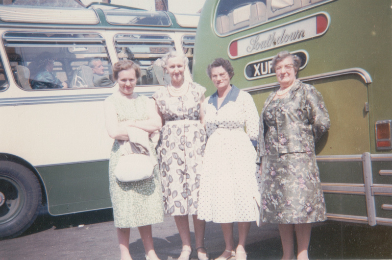 Four Ladies On A Coach Trip 1950s